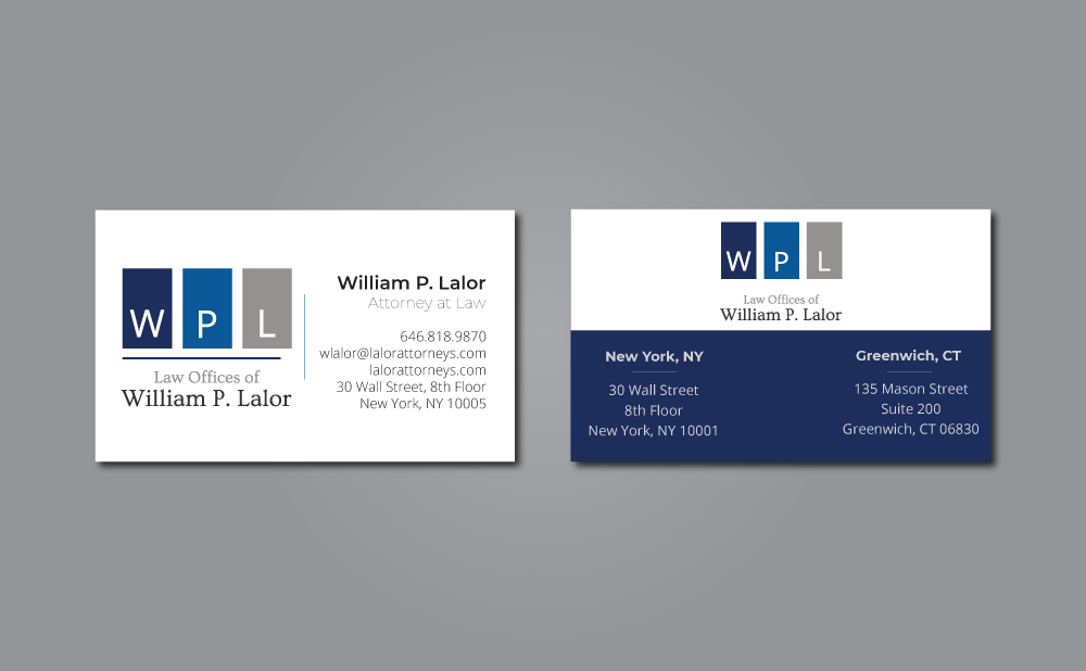 Law Offices of William P. Lalor Business Card