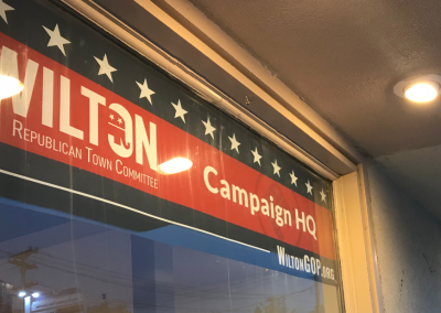 Wilton Republican Town Committee – Window Banner